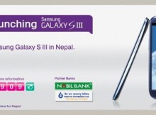 Samsung Galaxy s3 in ncell Nepal