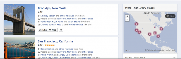 facebook graph search result