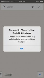 Connect to iTunes to use push notifications